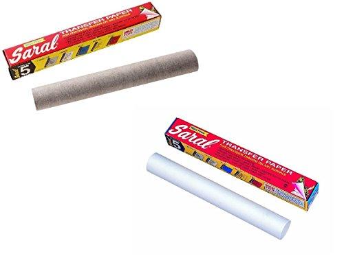 Saral Transfer Papier 12Fuß Rollen in graphit und weiß