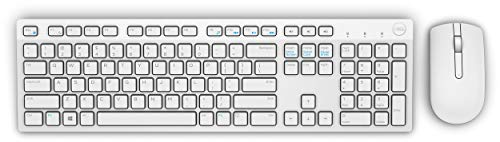 Teclado e Mouse Wireless Dell, KM636, Branco