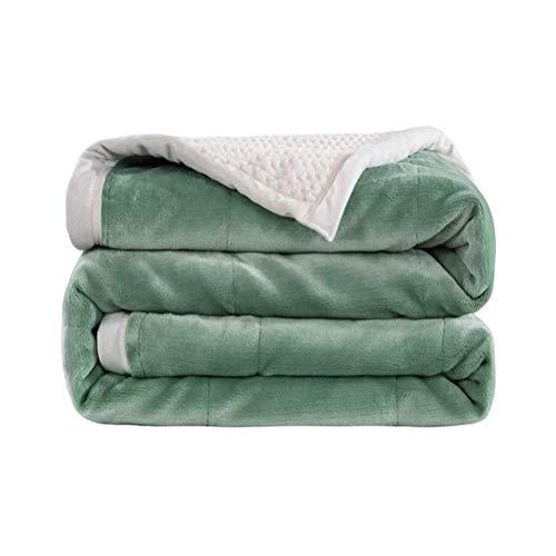 Haushaltsprodukte Decke Decke Doppelte Haut freundlich Dick Warme Koralle Fleece Decke für Sofas und Betten für Couch Bett Sofa Travel All Seasons Suitabl (Farbe: Grün Größe: 180 * 200cm)