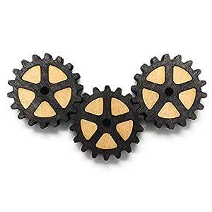 3 x Neodym Kühlschrank Magnet Zahnräder (dunkel)