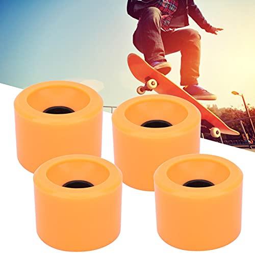 4PCS/Set Skateboard Lenkung Anti-Rutsch-Flash-Rad für Jugendliche Erwachsene Anfänger Mädchen Jungen Kinder für zweireihiges Skaten und Skateboard(orange)