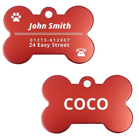 Hundemarken für Haustiere mit Gravur, personalisierbar, für kleine und große Hunde, Hundemarke,...