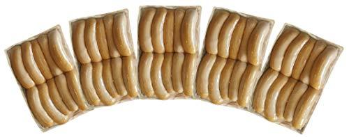 無添加ウインナー50本(10本パック×5個)★匠技で作るドイツウインナーソーセージ50本(塩控えめ100g中1.8g・添加油肉不使用・自然材料100%)★お子様にお勧め★当日製造発送★基本冷凍便配送