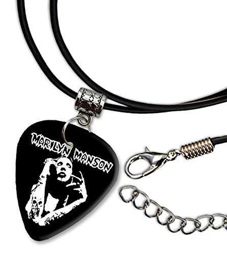 Marilyn Manson Design 3 Gitarre Plectrum Cord Halskette Necklace BWEG