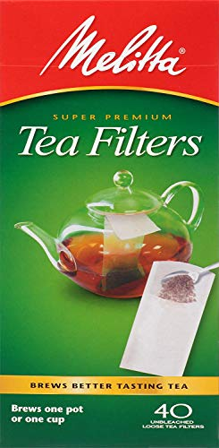 Melitta Tea Filters, White, 40 Count (Pack of 6)
