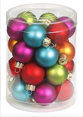 Kunststoff bruchfest //// Dekokugeln Weihnachtskugeln Baumkugeln Baumschmuck Set Inge-Glas Plastik PVC 30mm Mille-Fiori 20 Christbaumkugeln 3cm