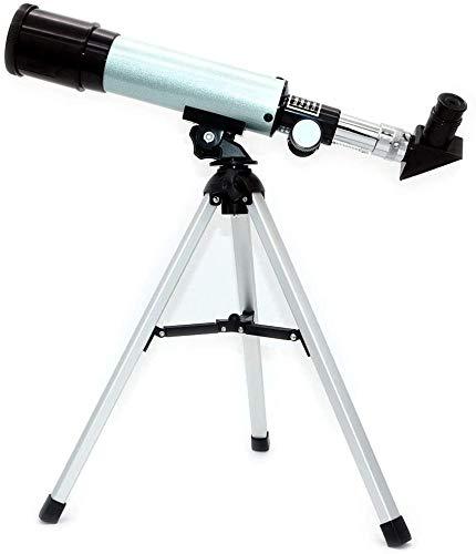 DKEE Binoculars Astronomisches Teleskop for Erziehungswissenschaft Refraktor Mit Super-leichtem Stativ for Astronomie Anfänger, Nachtsterne Uhr, Brennweite 360mm, 50mm Blende