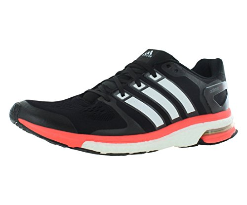 Adidas Adistar Boost Running Shoes Mens ESM 12,5 Negro-Blanco-Rojo Solar
