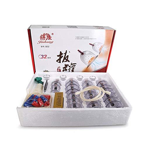 Mmyunx 32 Cups Schröpfen Vakuum Massage Medizinische Therapie Diät-Akupunktur