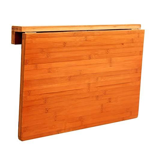 Kleine koffietafel, draagbaar, kleine houten wandtafel, houten tafel, bladtafel, klaptafel, bleekwerk, keukentafel, tot 50 kg, 7 cm klaptafel 70 * 45cm
