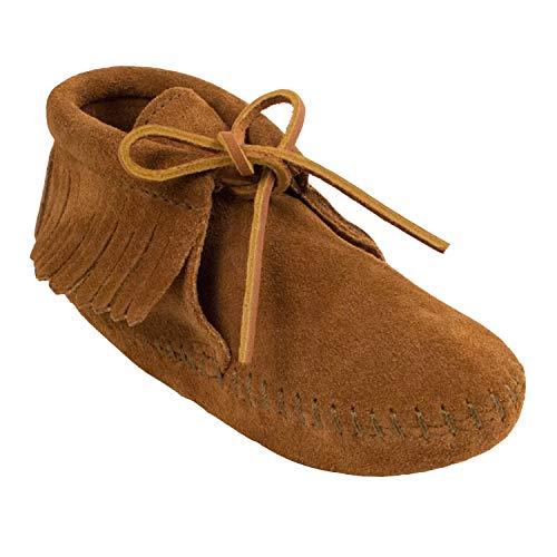 Minnetonka Classic Fringed Boot, Stivali Mocassini Unisex – Bambini, Marrone (Brown), 29 EU