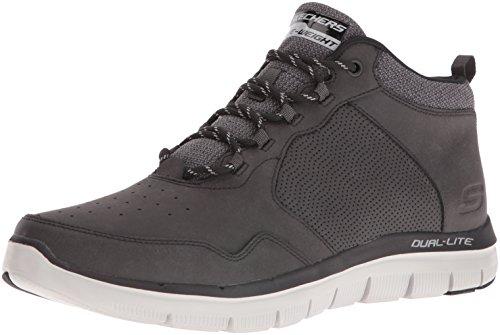 Skechers Flex Advantage 2.0, Zapatillas Altas Hombre, Negro (Black), 44 EU
