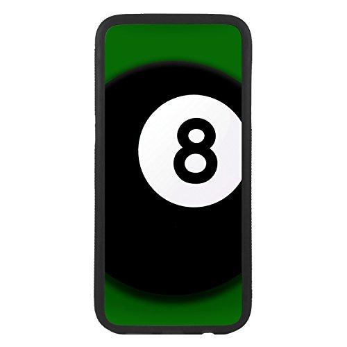 afrostore Funda Carcasa de móvil para Apple iPhone 7 Plus Bola 8 de Billar TPU Borde Negro