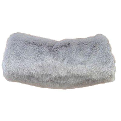 Leisial™ Winter Super Wärme Niedlicher Muff Armwärmer Muff Handwärmer Damen Muff Handwärmer Grau 40 * 22CM
