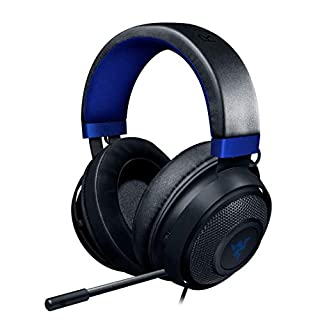 Razer Kraken Gaming Headset: Lightweight Aluminum Frame - Retractable Noise Isolating Microphone - For PC, PS4, PS5, Switch, Xbox One, Xbox Series X & S, Mobile - 3.5 mm Headphone Jack - Black/Blue (B07QNZC9V5)   Amazon price tracker / tracking, Amazon price history charts, Amazon price watches, Amazon price drop alerts