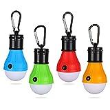 Yizhet LED Campinglampe Zeltlampe Glühbirne Set-Notlicht mit Karabiner Wasserdicht Tragbare...