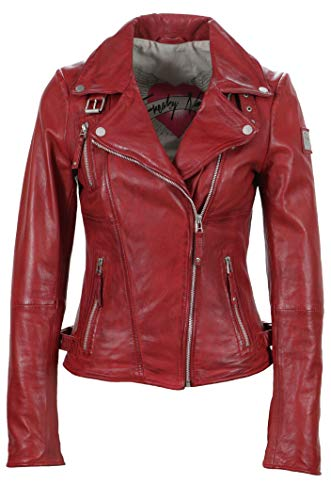 Freaky Nation Biker Princess Giacca, Rosso (Apple Red), 40 IT (X-Small) Donna