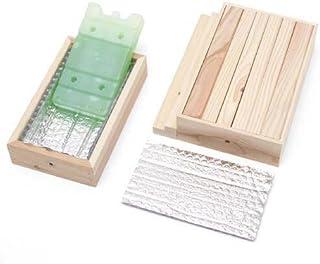 階段付ひんやりウッドデッキセット(保冷剤付) Sサイズ (W25.5×D20.5×H6.5cm) クールマット アルミプレート タイル