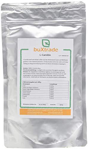 250 g L-Carnitin Base 100% reines Pulver Aminosäure Energie Stoffwechsel