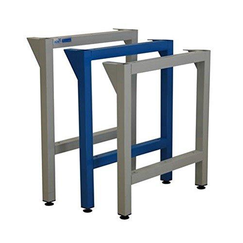 ADB Werkbankfuß, Werktisch-Stützbeine passend für Werkbänke T700 mm versch. Höhen, Farbe (RAL):Lichtblau (RAL 5012), Höhe:750 mm