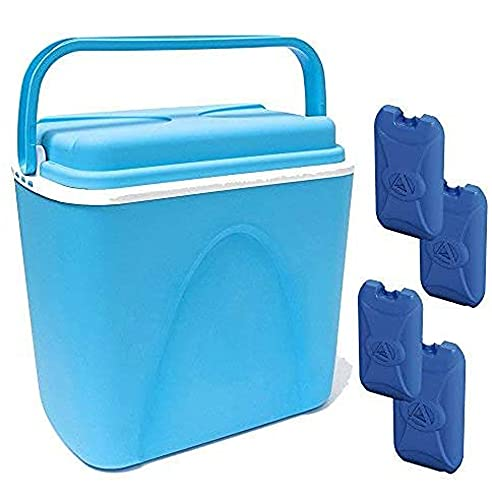 Wheels N Bits 24 Litre Large Cooler Box with Carry Handle &...