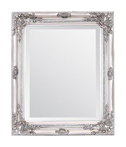 Select Mirrors Rhone Wandspiegel - Französischer Vintage, Antiker Barockstil - 50cm x 60cm (Antik Silber)