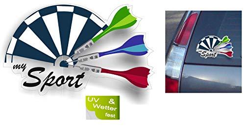 Generisch Dart Aufkleber Darts Aufkleber Dartpfeil Auto Aufkleber Club Sticker (R24/1) (20x15cm)