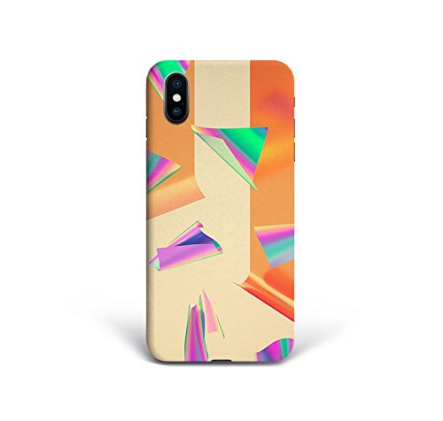 For New iPhone X - Phone Back Case Hard Cover Custom Personalised Full 3D Style Christmas Gift Present Abstract Modern Design Protective Plastic UK Brand Appfix Abstract figures Art