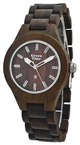 Green Time Orologio da polso analogico al quarzo in legno ZW019 C