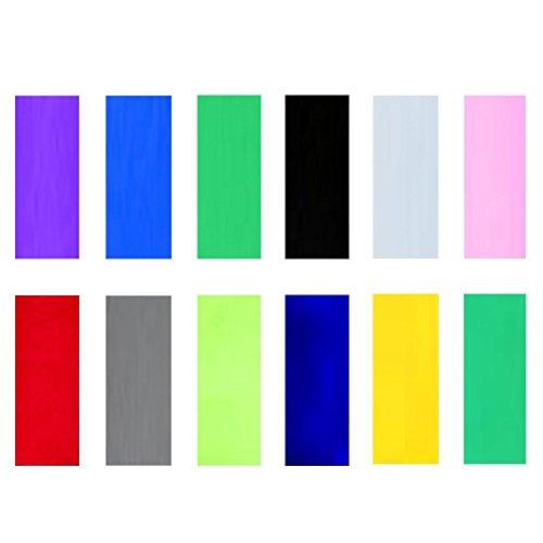 ThreeBulls 240pcs 12 Color 29.5mm 18.5mm PVC Heat Shrink Tubing Tube for 18650 18500 Battery Shrink Film