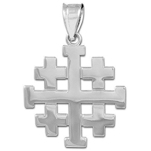 Masonic Jewelry (Freemason) 925 Sterling Silver Templar Crusaders Jerusalem Cross Pendant