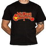 Miller's Outpost T-Shirt - Defunct Retailer - 100% Cotton Gildan Brand Black Shirt (X-Large)