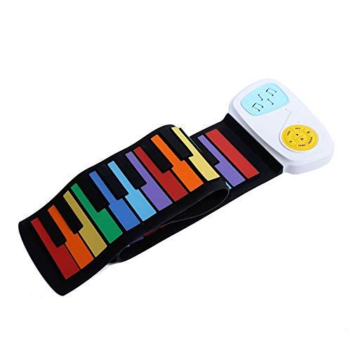Piano USB portátil, piano eléctrico enrollable, 49 teclas, juguete educativo, diseño plegable, multifunción para niños, para oficina