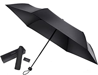 Creva 折りたたみ傘 カーボンファイバー 軽量 150g テフロン加工 大きめ99㎝ 耐風構造 遮光 メンズ レディース