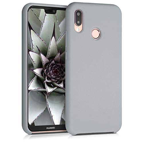 kwmobile Hülle kompatibel mit Huawei P20 Lite - Hülle Silikon gummiert - Handyhülle - Handy Case in Hellgrau matt