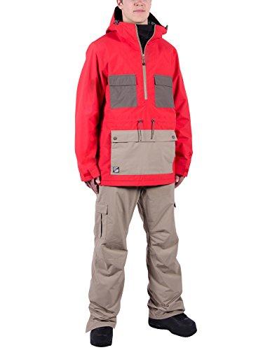Nitro Herren Snowboard-Jacke Bear Jacket 15, Tomato/Smoke/Khak, M