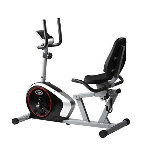BODYCOACH Sitz-Heimtrainer Trimmrad mit Rückenlehne Verstellbarer Sitz Schwungmasse ca. 9kg Computer Pulsmessung