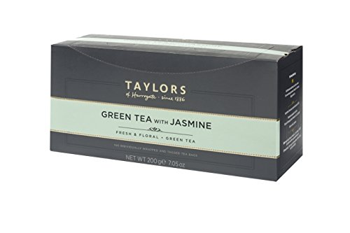 Taylors of Harrogate Green Tea with Jasmine, 100 Count (Pack of 1)
