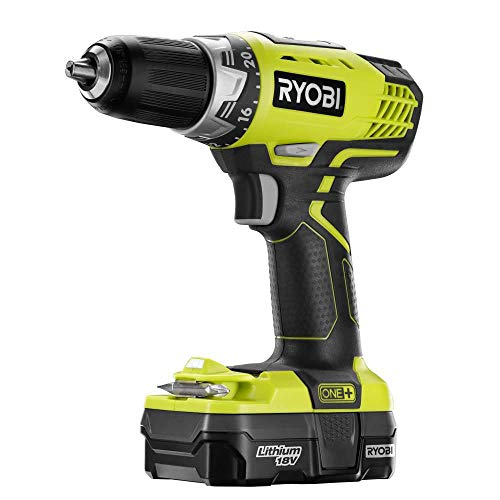 Ryobi P1811 18 Volt One+ Lithim-Ion Cordless Compact 1/2 Inch Drive/Driver Kit with 1.3 Ah Battery (Non-Retail Packaging)