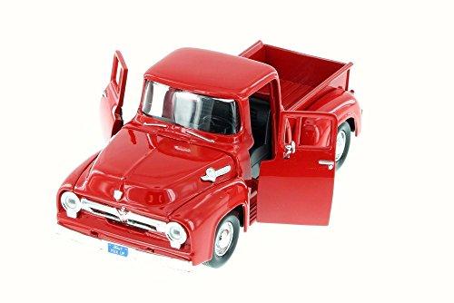 Motor Max 1:24 W/B American Classics 1956 Ford F-100 Pickup Diecast Vehicle, Red