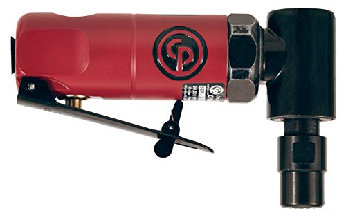 Chicago Pneumatic CP875 Pneumatic Right Angle Pistol Grip Die Grinder with 1/4'' Collet, 22,500 RPM