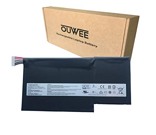 OUWEE BTY-M6J Laptop Battery Compatible with MSI GS63 7RE-009CN 018CN GS63VR 6RF-016CN 095CN 7RF-239CN 258CN GS73 7RE-004CN GS73VR 6RF-013CN 7RF-284CN Series BTY-U6J BP-16K1-31 11.4V 64.98Wh 5700mAh
