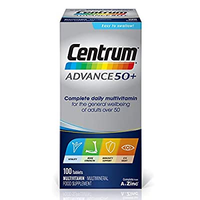 Centrum Advance 50 Plus Multivitamin Tablets, Pack of 100 by Centrum
