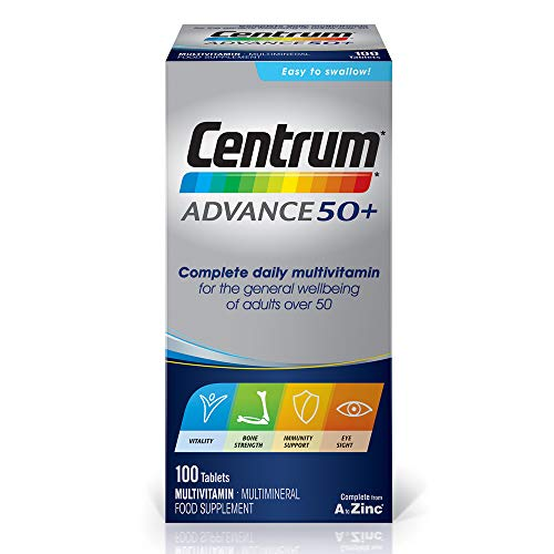 Centrum Advance 50 Plus Multivitamins and Minerals tablet, 100 tablets (over 3 months supply)