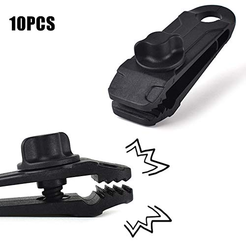 YZCH 5/10 Pcs Heavy Duty Camping Tarp Clips Tent Awning Clamps with Thumb Screw Portable Tool