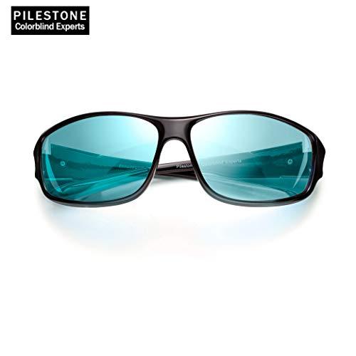 PILESTONE TP-017 (Tippe A) farbenblinde gläser Color Blind Korrekturbrille für Rot / Grün Color Blind - Sport im Freien Color Blind Brille - Mild, Moderat und Stark Deutan und Mild, Moderat Protan