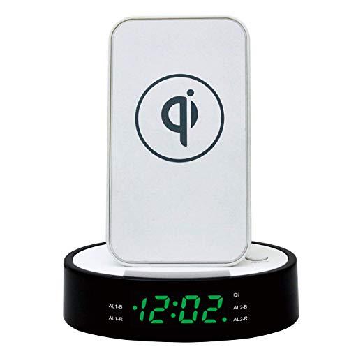 Radio Reloj Despertador 580QI con Cargador QI inalámbrico de 9W