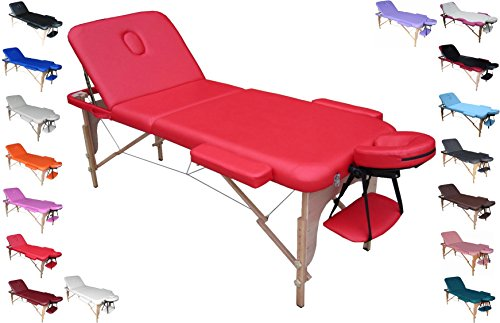 Polironeshop Venere profesional Mesa plegable portátil sofá-cama para masajes rojo