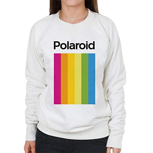 Women's White Polaroid Spectrum Sweatshirt, S to XXL