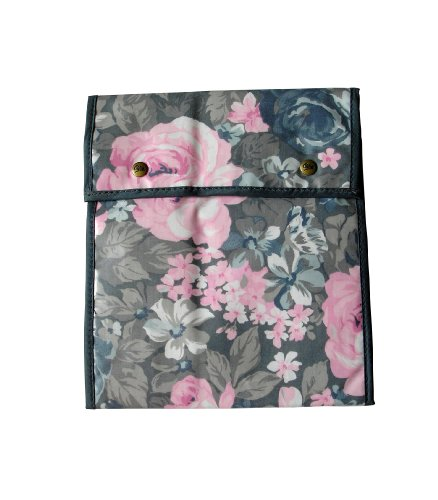 Pariser-Mode Pariser-Mode Strumpftasche grau-rosé gemustert